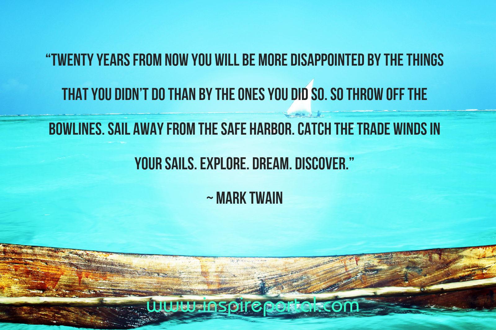 Sail Twain Quote
