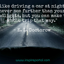 Quote - Driving at night