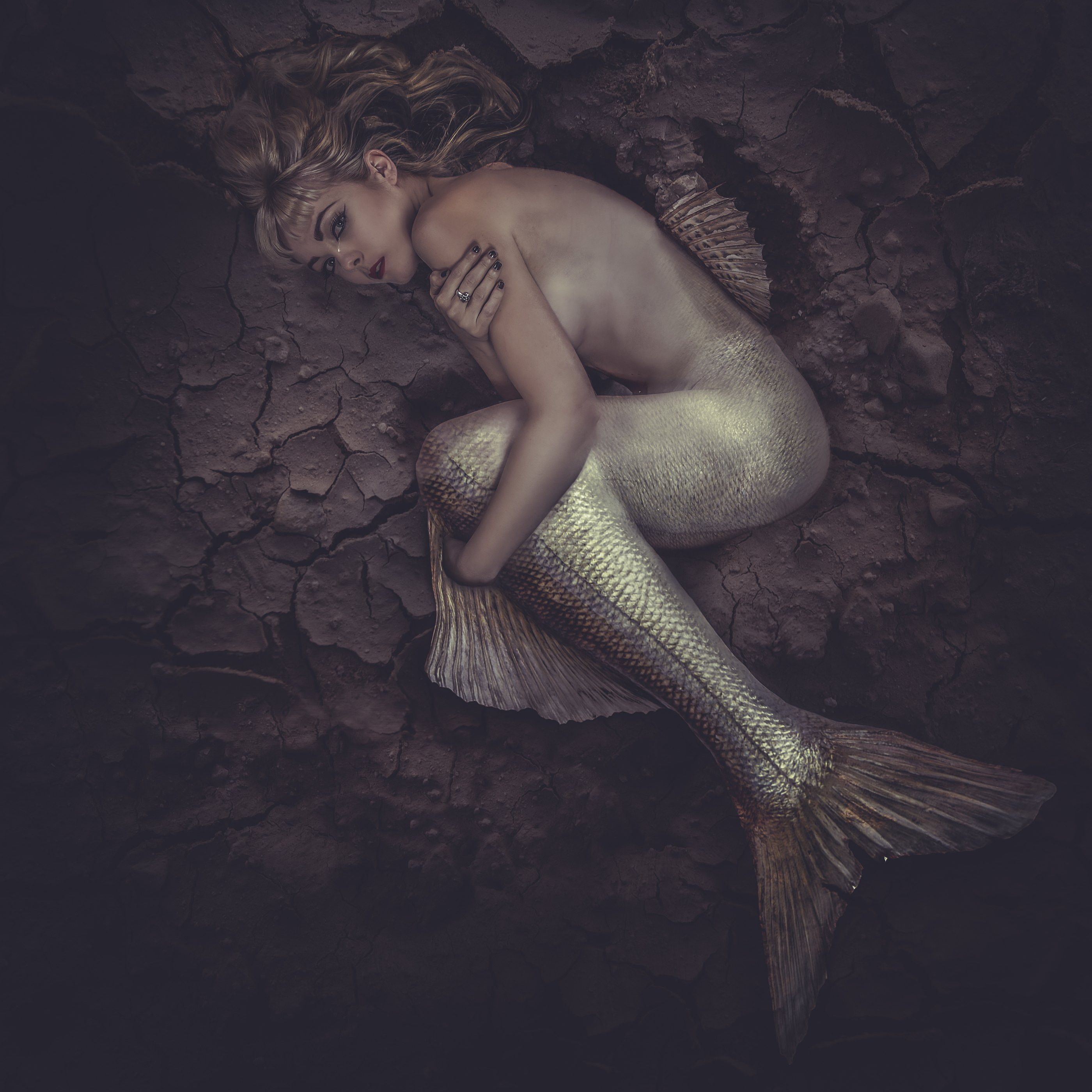 mermaid trapped in a sea of �?�¢??�?�¢??mud, c