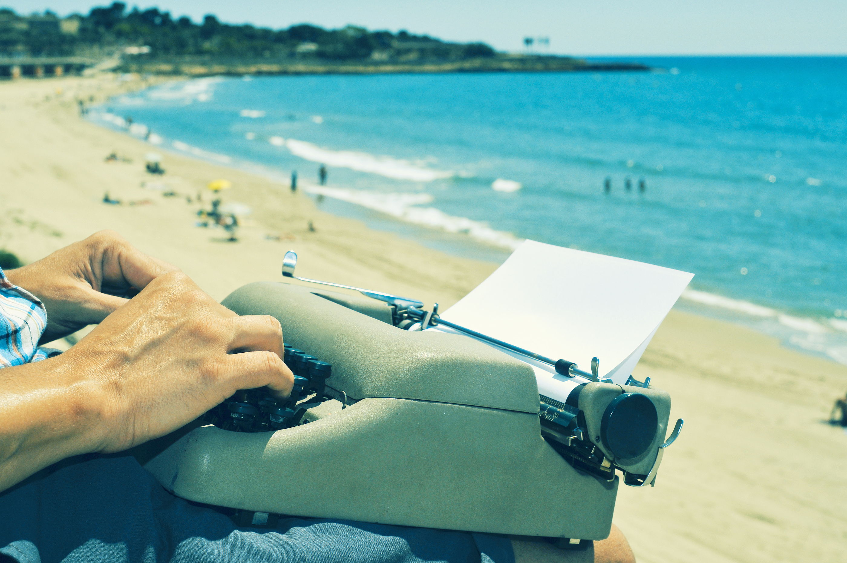 Image result for writing by the beach