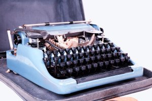 Retro typewriter, closeup